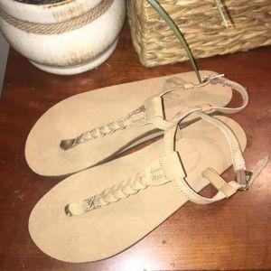 Brand New Rainbow T-Street Leather Sandals